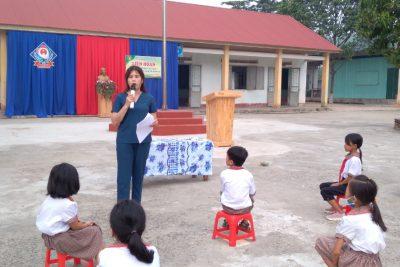 Tuyên truyền phòng chống đuối nước cho các em học sinh trường TH Nguyễn Du